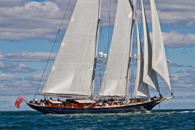 Superyacht Meteor in the 2010 Newport Bucket (Photo by George Bekris)