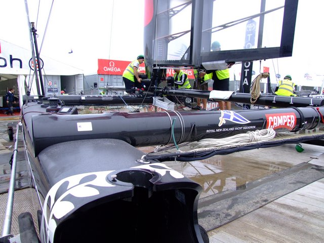 Mast Stepping before Launch (Photo by Colin Merry)