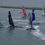 America's Cup 45's in close action (Photo by Colin Merry)