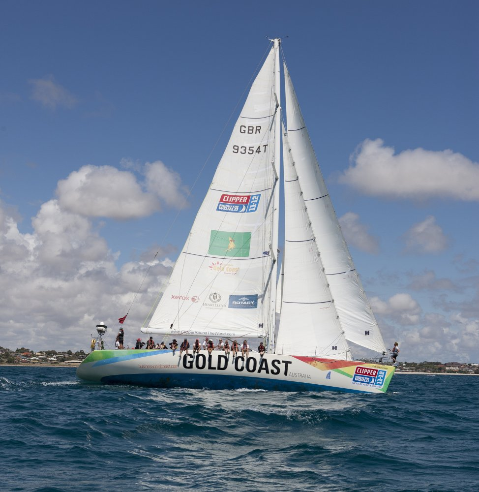 Gold Coast Australia at the start of Race 5 from Geraldton, Western Australia to Tauranga, NZ,  (Photo by Karl Monaghan/onEdition)