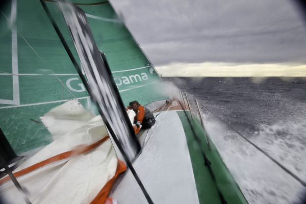 Groupama Sailing Team during leg 1  ( Photo by  Yann Riou / Groupama Sailing Team / Volvo Ocean Race )