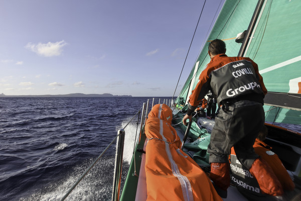 Groupama Sailing Team during leg 1 of the Volvo Ocean Race 2011-12, from Alicante, Spain to Cape Town, South Africa. (Credit: Yann Riou/Groupama Sailing Team/Volvo Ocean Race)