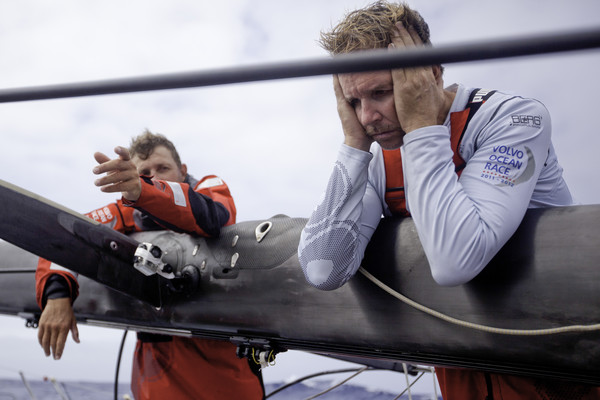 PUMA Ocean Racing powered by BERG, suffered a broken mast on the first leg (Photo by Amory Ross/PUMA Ocean Racing/Volvo Ocean Race)