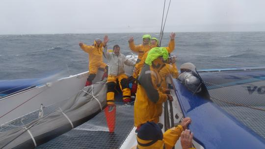 Maxi Trimaran Banque Populaire Crew Passes Cape Leewin in Record Time. (Photo copyright  BPCE)