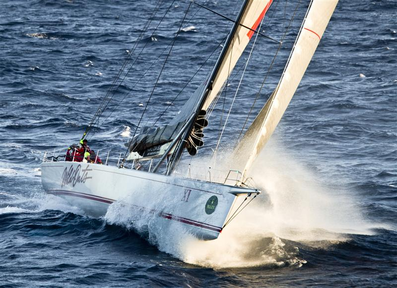 WILD OATS XI, Sail No: 10001, Owner: Bob Oatley Leads Into Bass Strait (Photo by Rolex /Daniel Forster)