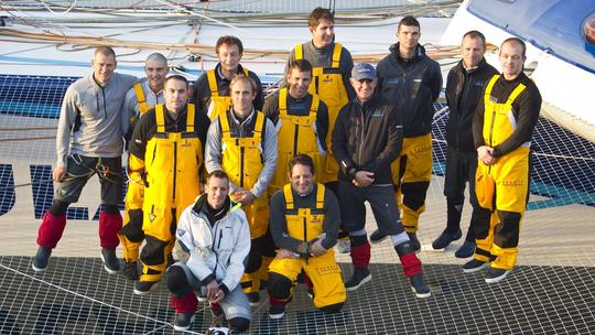 Banque Populaire V Crew 2012 Jules Verne Trophy Winners (Photo courtesy of BPCE)