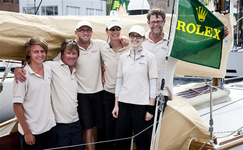 Last but not least MALUKA OF KERMANDIE crew and owner Peter Langman (Photo by Rolex / Daniel Forster)