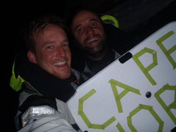 Conrad Colman and Adrian Kuttel lead the GOR fleet around Cape Horn (Photo courtesy of Cessna Citation)