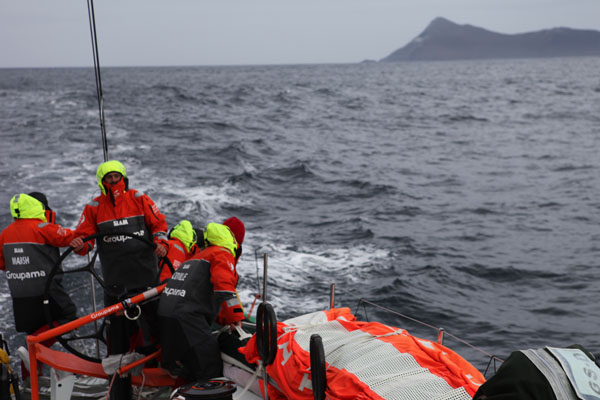 Groupama Sailing Team during leg 5 of the Volvo Ocean Race 2011-12, from Auckland, New Zealand to Itajai, Brazil. (Photo by Yann Riou/Groupama Sailing Team/Volvo Ocean Race)