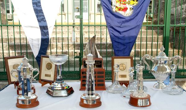 Newport Bermuda prizegiving at Government House in Bermuda. His Excellency the Governor of Bermuda Sir Richard Gozney and special presenters awarded 113 trophies and prized to the top performers in the 183-boat fleet sailing in the 2010 Newport Bermuda Race and the Onion Patch Series. (Photo by Talbot Wilson)
