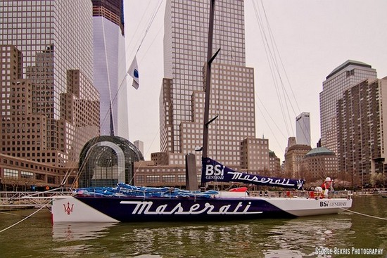 Maserati at North Cove, NYC (Photo by George Bekris)