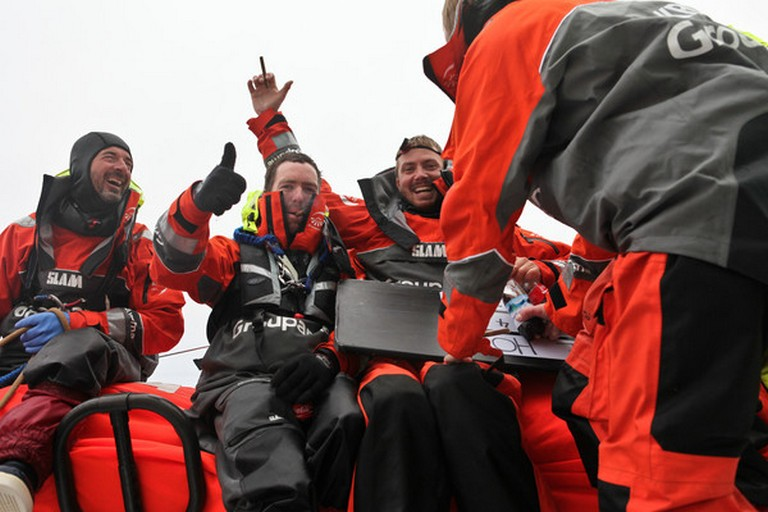 Groupama Sailing Team during leg 5 Passing Cape Horn (Photo by Yann Riou/Groupama Sailing Team/Volvo Ocean Race)
