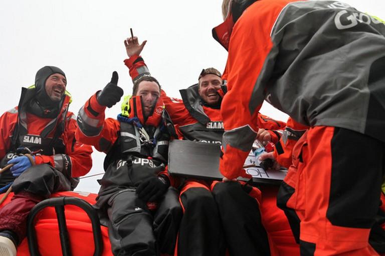 Groupama Sailing Team during leg 5 Passing Cape Horn (Photo by Yann Riou/Groupama Sailing Team/Volvo Ocean Race)