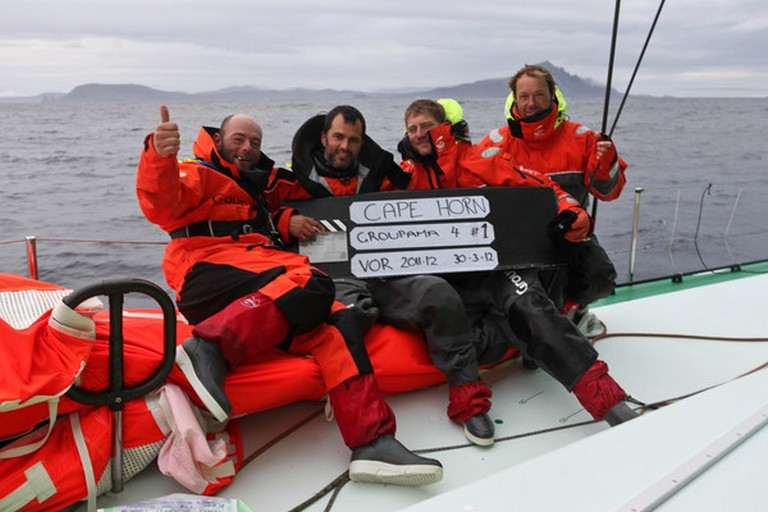Groupama Sailing Team during leg 5 of the Volvo Ocean Race 2011-12   (Photo by Martin Krite /Groupama Sailing Team/Volvo Ocean Race)
