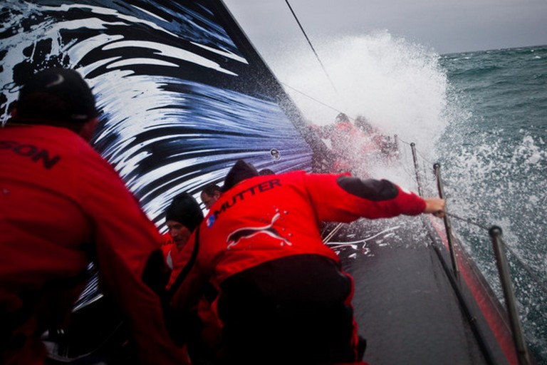 PUMA Ocean Racing powered by BERG during leg 5 of the Volvo Ocean Race 2011-12, from Auckland, New Zealand, to Itajai, Brazil. (Photo by Amory Ross/PUMA Ocean Racing/Volvo Ocean Race)