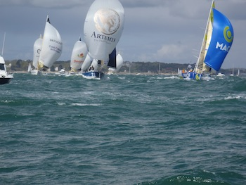 Artemis 23 race towards 3rd position nearing the second mark © Artemis Offshore Academy