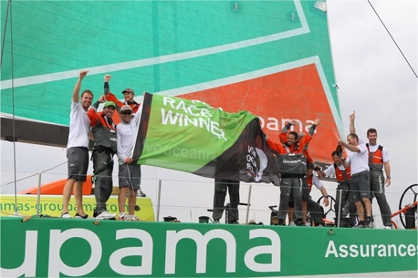 Franck Cammas and Groupama 4 Crew win Brazil In-Port (Photo by Yann Zedda)