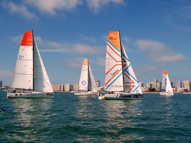 Global Ocean Race leg 4 start (Photo courtesy Global Ocean Race)