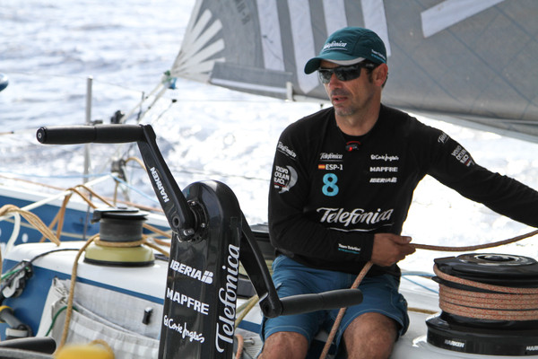 Team Telefonica during leg 6 2011-12, from Itajaí, Brasil to Miami (Photo by  Diego Fructuoso/Team Telefonica/Volvo Ocean Race)