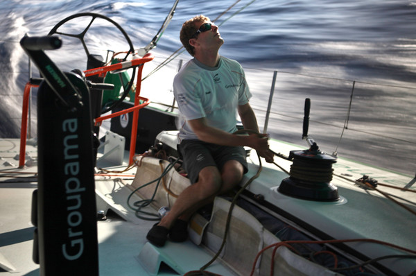 onboard Groupama Sailing Team during leg 6 of the Volvo Ocean Race. (Photo by Yann Riou/Groupama Sailing Team/Volvo Ocean Race)