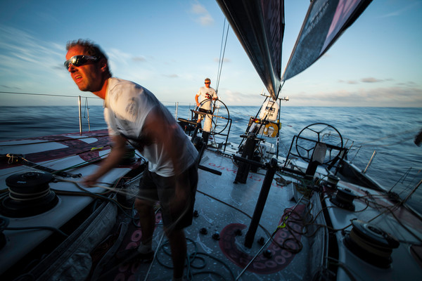 Onboard PUMA Ocean Racing powered by BERG during leg 6 of the Volvo Ocean Race 2011-12, from Itajai, Brazil, to Miami, USA. (Photo by  Amory Ross/PUMA Ocean Racing/Volvo Ocean Race)