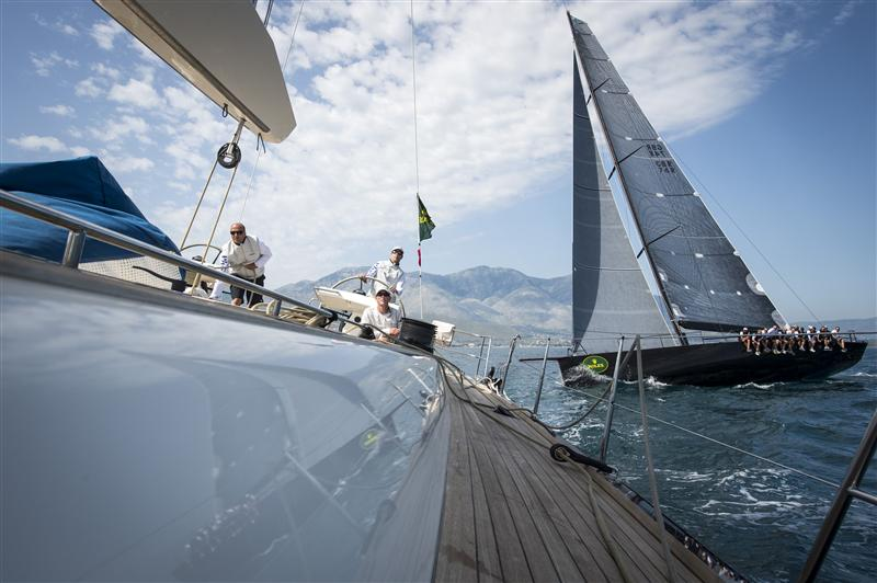 Jethou crosses in front of Nilaya (Photo by Rolex/Kurt Arrigo)