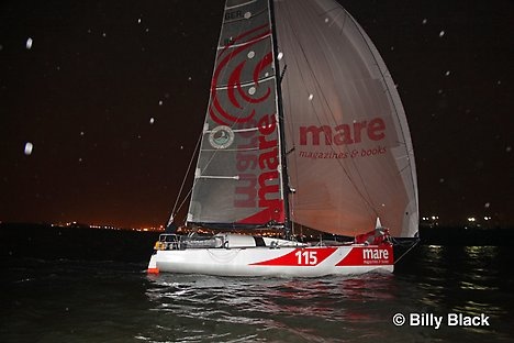 Leg 1 Winner Mare finishes in New York Harbor (Photo by Billy Black/Atlantic Cup)