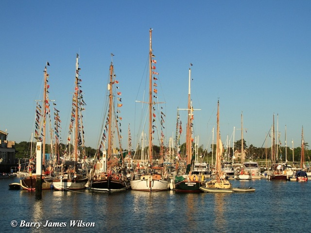 Gaffers line the Yarmouth Harbour (Photo by Barry James Wilson)