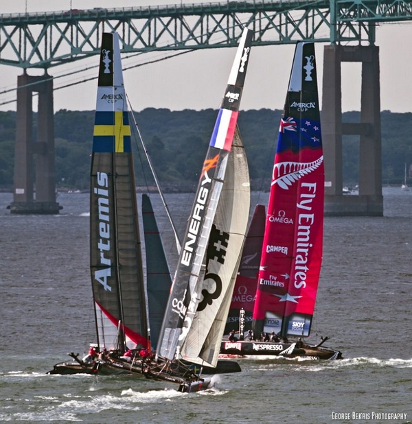 Artemis, Team Korea and Emirates New Zealand (Photo by George Bekris)