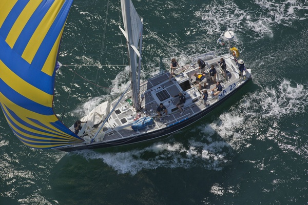 Defiance - NA 23 - Navy 44 training yacht skippered by Bryan Weisberg (Photo by Daniel Forster / PPL)