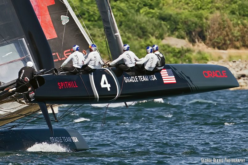 Team  Oracle  USA Spithill  (Photo by George Bekris)