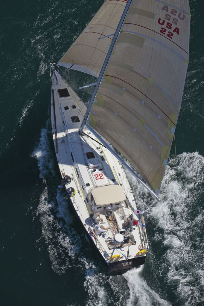 True - USA 22  - J160  production yacht yacht skippered by Howard B Hodgson Jnr (Photo by Daniel Forster/PPL)