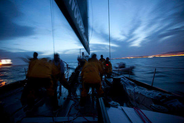 Abu Dhabi Ocean Racing during leg 7 of the Volvo Ocean Race 2011-12, from Miami, USA to Lisbon, Portugal. (Photo by Nick Dana/Abu Dhabi Ocean Racing/Volvo Ocean Race)