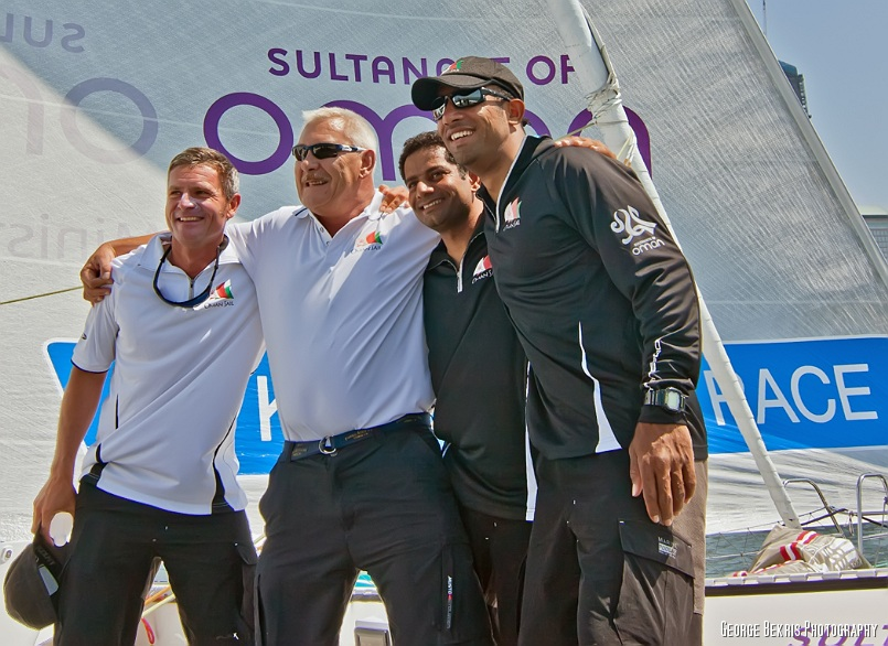 Sidney Gavignet, Albert Whitley, Mohsin Al Busaidi and Fahad Al Hasni (Photo by George Bekris)