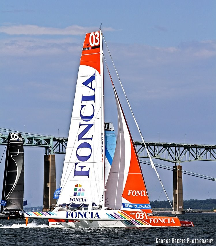 Foncia and Spindrift at Prologue Start  (Photo by George Bekris)