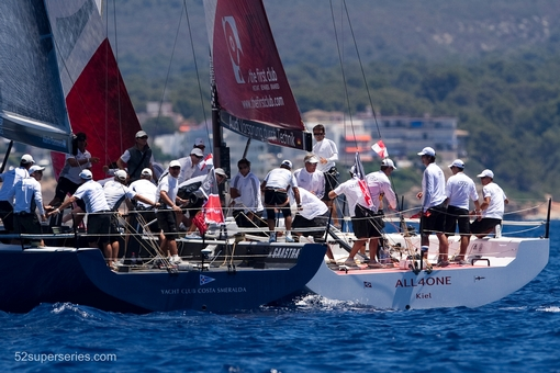 PALMA DE MALLORCA, SPAIN. 2012. Day four of Copa del Rey of 52 Superseries on july 19, 2012 in Palma de Mallorca, Spain (Photo by Xaume Olleros/52 Superseries)