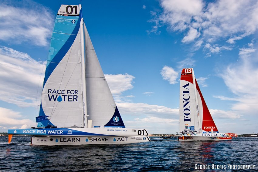 Race For Water and Foncia at Newport Pologue Race Start (Photo by George Bekris)