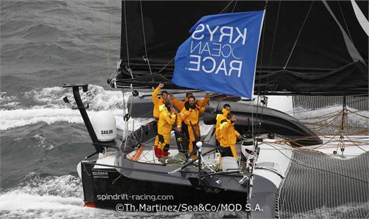 Spindrift Wins KRYS by (Th. Martinez  /Sea & Co/ MOD 70)
