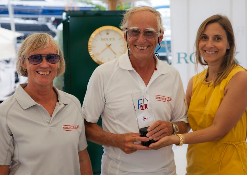 Struntje light's Wolfgang and Angela Schaefer with Rolex USA's Colette Bennett by Daniel Forster