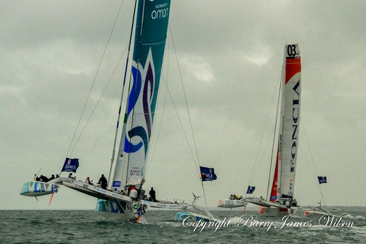Oman Sail and Foncia MOD 70s (Photo by Barry James Wilson)