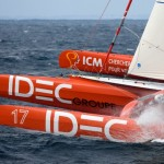 Francis Joyon and his maxi trimaran IDEC Start Standby for Route de l'Amitié Record Attempt