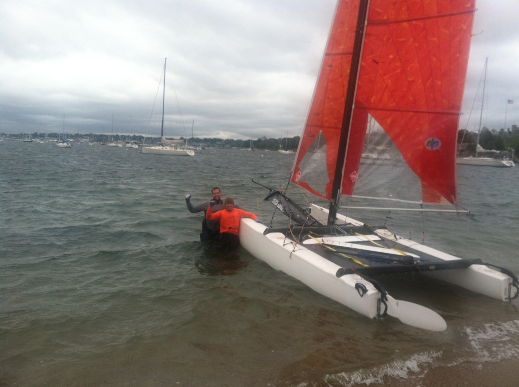 New record holders Dan Flanigan and Max Kramers with their Hobie Tiger