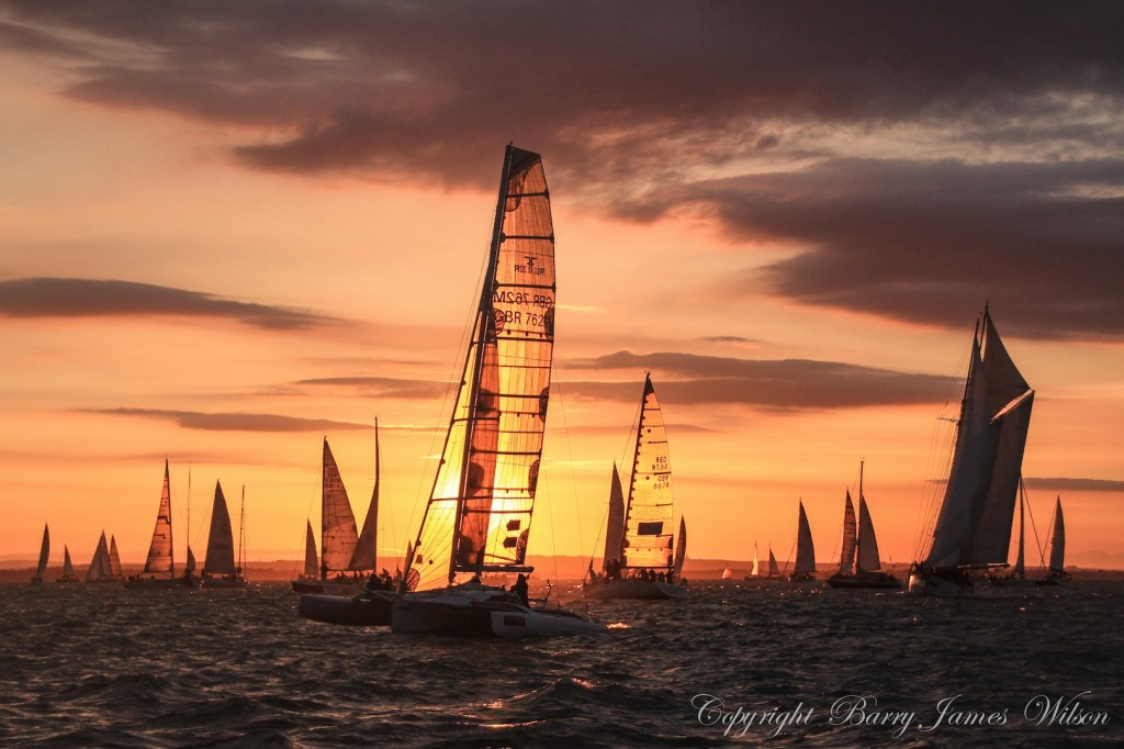 The J.P. Morgan Asset Management Round the Island Race 2014 sunrise (Photo by Barry James Wilson)