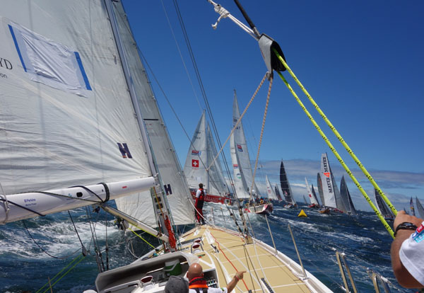 Leg 4, Race 6, Day 1 During the Sydney Hobart 2013