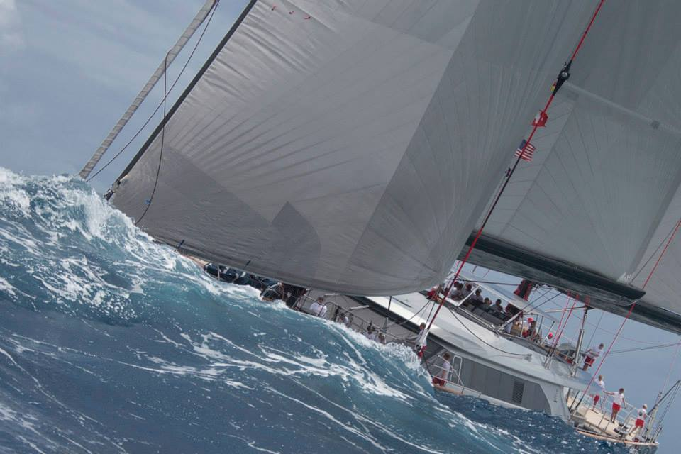Seahawk: Ketch_Perini Navi_Holland_58.6m  Saint Barth Bucket Race 2014Race1 Photo: © Carlo Borlenghi  at Saint Barth.