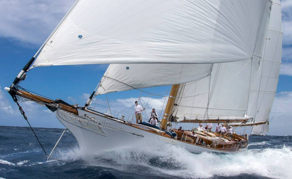 Whitehawk: Ketch_Neilson_King_28.0m  Saint Barth Bucket Race 2014 Race1 Photo: © Carlo Borlenghi — at Saint Barth.
