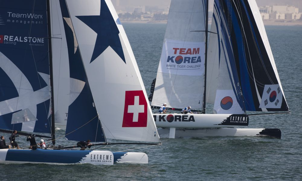 Realteam in Muscat, Act 1 Extreme Sailing Series 2013 - © Lloyd Images/Extreme Sailing Series