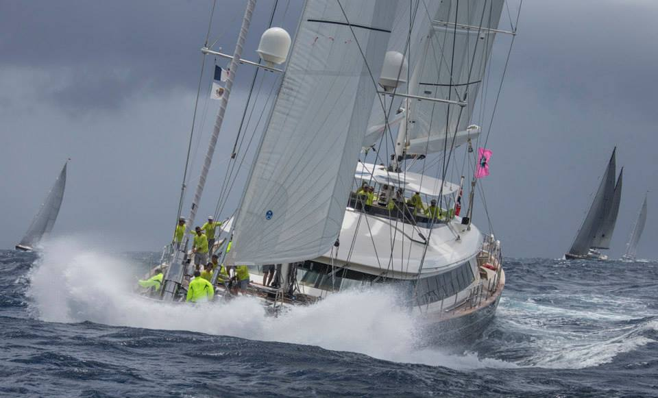 Silencio: Ketch_Perini Navi_Perini_50.0m  Saint Barth Bucket Race 2014 Race1 Photo: © Carlo Borlenghi