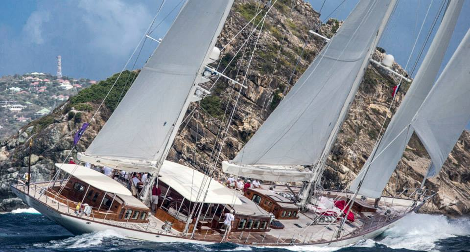 Adele: Ketch_Vitters_Hoek_54.6m Saint Barth Bucket Race 2014 Race 1 Photo: © Carlo Borlenghi  at Saint Barth.
