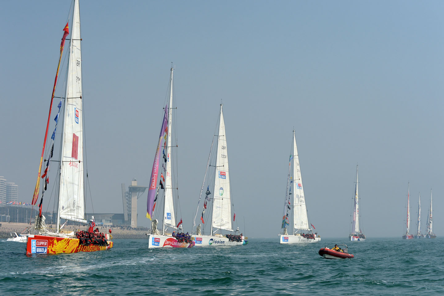 QINGDAO, China. 09-MAR-2014; Clipper Ventures Round The World race stopover in Qingdao China © Olli Geibel